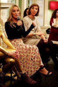 Meg Matthews speaks at the Sylk Talks Menopause event